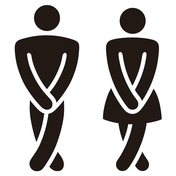 Wandtattoos: Lustig Bad WC-Symbole
