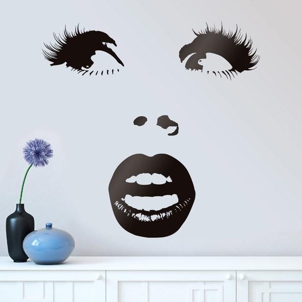 Wandtattoos: Überrascht Frau Gesicht