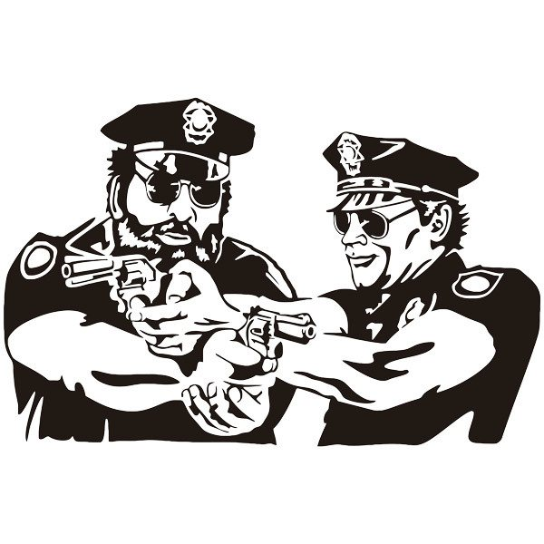 Wandtattoos: Bud Spencer und Terence Hill Police