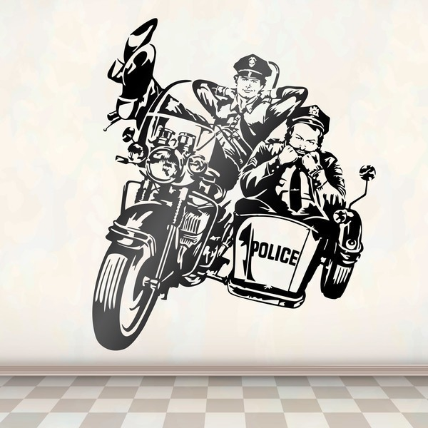 Wandtattoos: Bud Spencer und Terence Hill Police 2