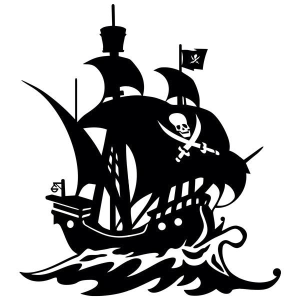Kinderzimmer Wandtattoo: Piratenschiff Segeln