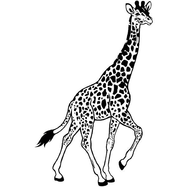 Wandtattoos: Giraffe zu Fuß