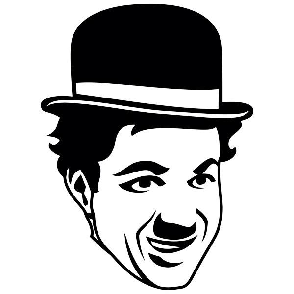 Wandtattoos: Charles Chaplin Gesicht