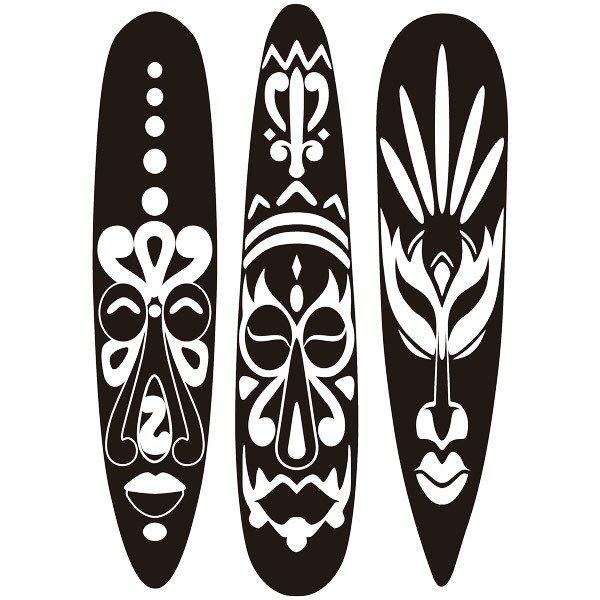 Wandtattoos: Triptych afrikanischen Masken