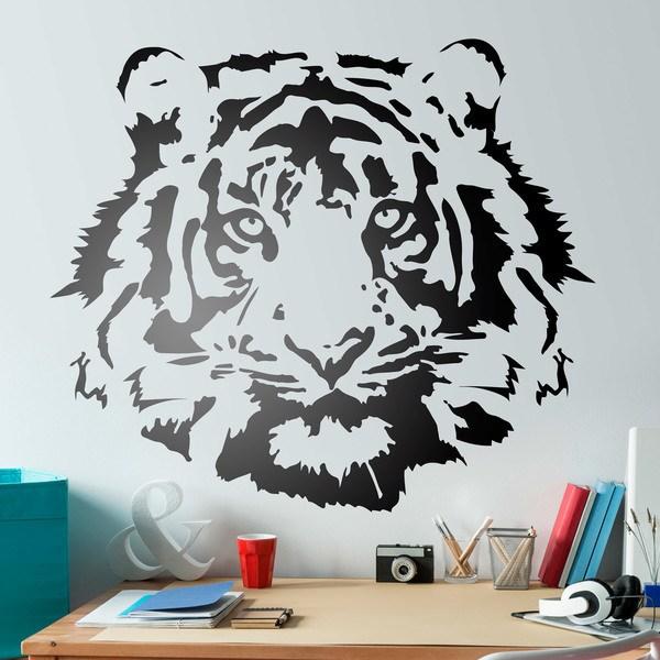 Wandtattoos: Tiger-Gesicht