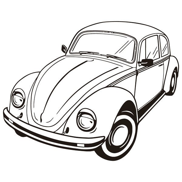 Wandtattoos: Volkswagen Beetle 2