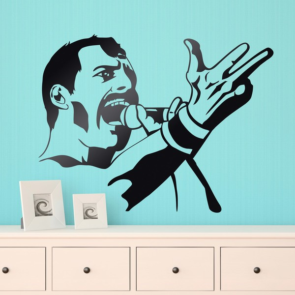 Wandtattoos: Freddy Mercury Queen