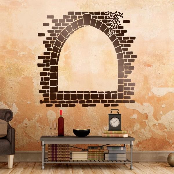 Wandtattoos: Steinfenster