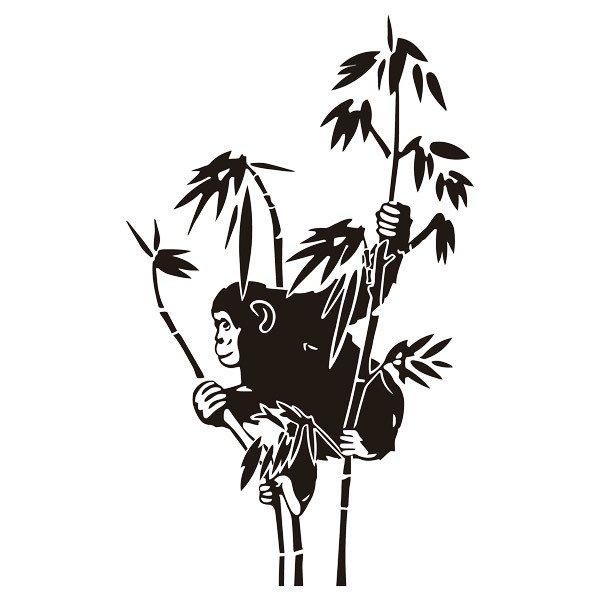 Wandtattoos: Affe auf Bambus
