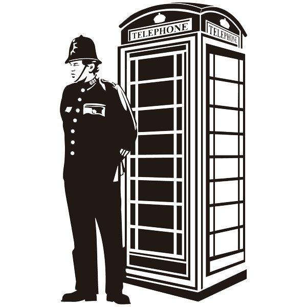 Wandtattoos: London Telefonzelle und britischen Wache