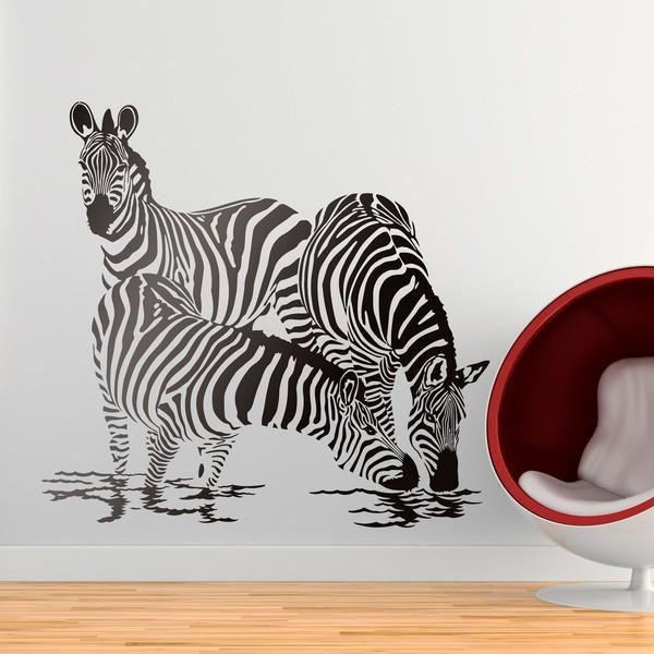Wandtattoos: Zebras in dem Fluss