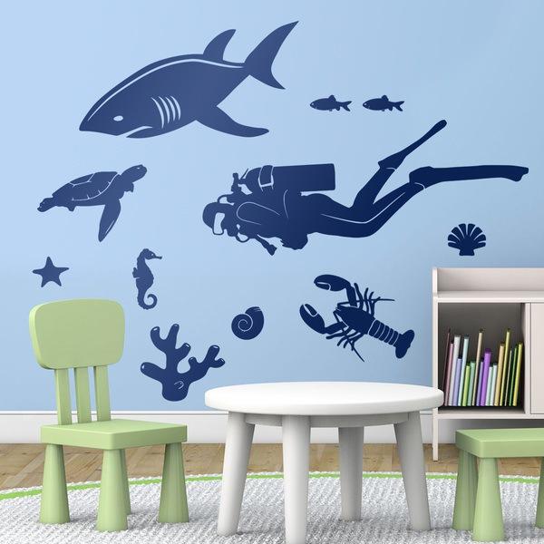 Kinderzimmer Wandtattoo: Kit Seien Sie unten Taucher