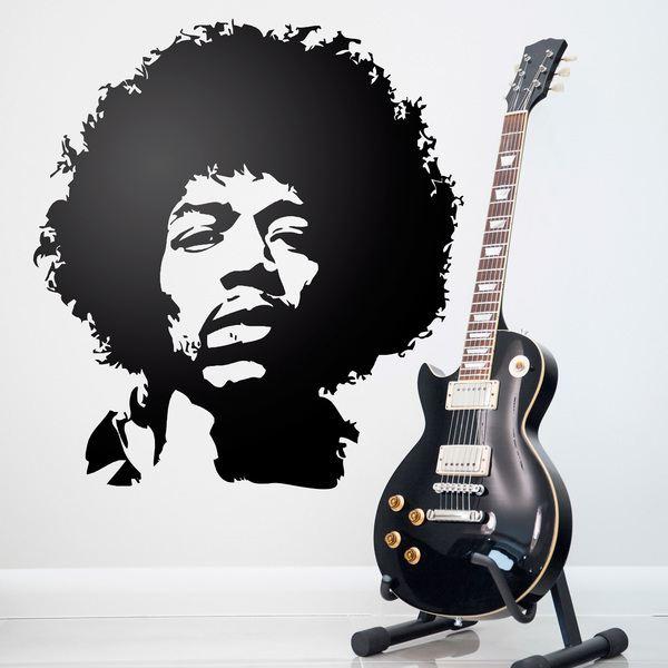 Wandtattoos: Symbol Jimi Hendrix