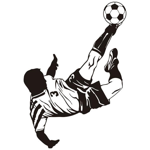 Wandtattoos: Fußballspieler eine Fallrückzieher Herstellung
