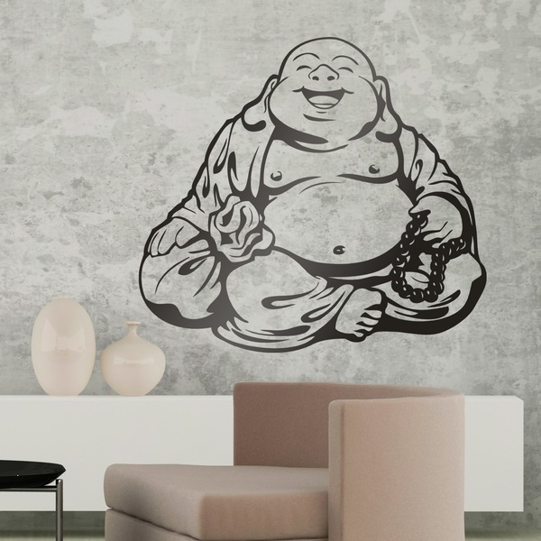 Wandtattoos: Lächelnd Buddha