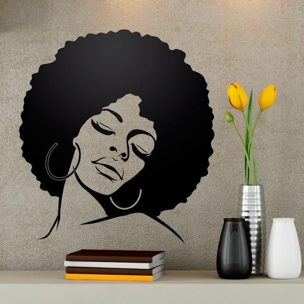 Wandtattoos: Afro-Frisur Mädchen