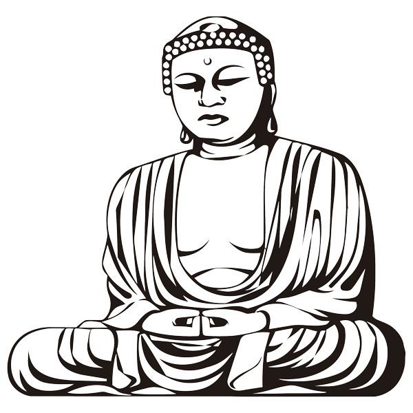 Wandtattoos: Buddha Weisheit