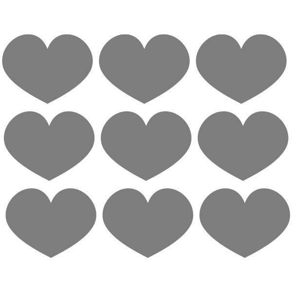 Wandtattoos: Kit 9 Wandtattoo Herzen