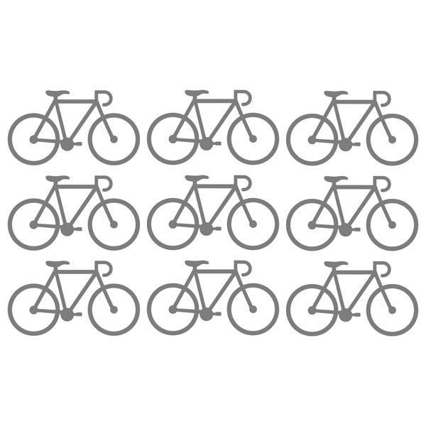 Wandtattoos: Kit 9 Wandtattoo Fahrrad
