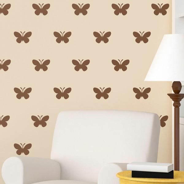 Wandtattoos: Kit 9 Wandtattoo Schmetterlinge