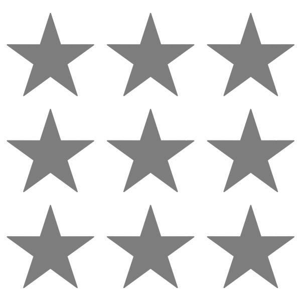 Wandtattoos: Kit 9 Wandtattoo Sterne
