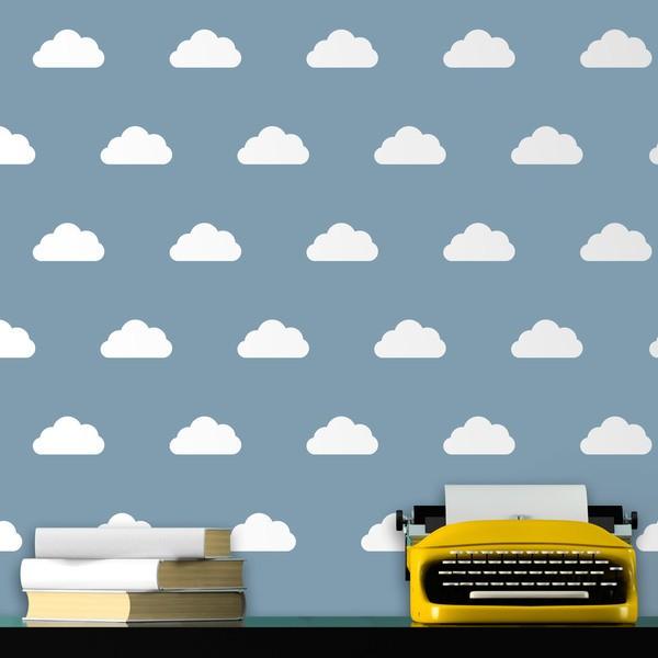 Wandtattoos: Kit 9 Wandtattoo Wolken