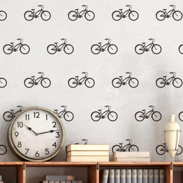 Wandtattoos: Kit 9 Wandtattoo Vintage Fahrrad