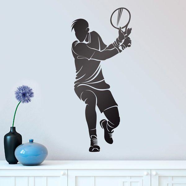 Wandtattoos: Tennisspieler Rückhand Schlagen