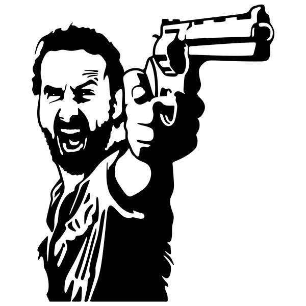 Wandtattoos: Rick Grimes TWD