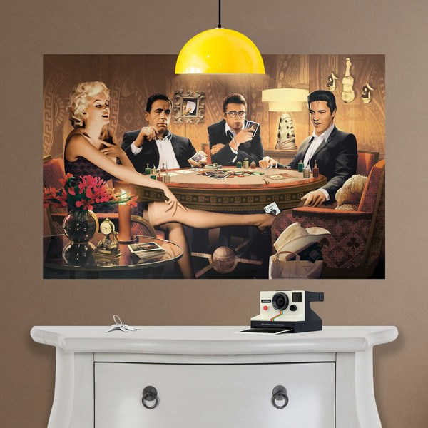 Wandtattoos: Klebstoff Poster Hollywood Poker-Stars