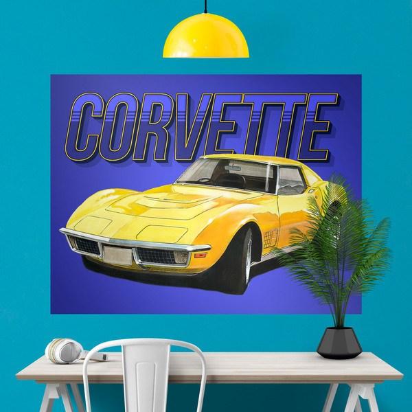 Wandtattoos: Klebstoff Poster Corvette