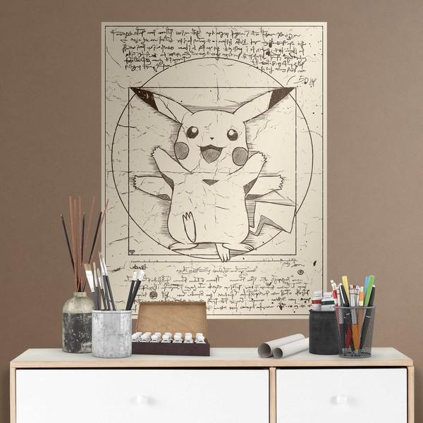 Wandtattoos: Klebstoff Poster Pikachu Vitruvio