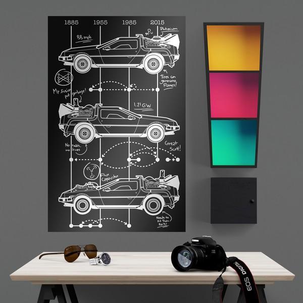 Wandtattoos: Klebstoff Poster DeLorean Timeline