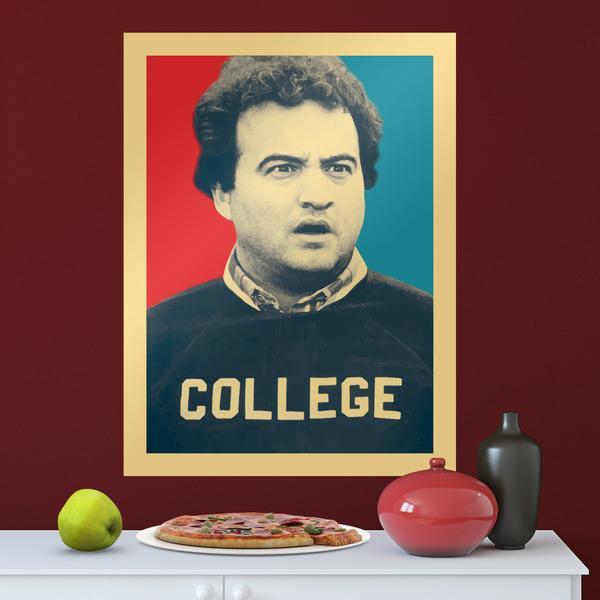 Wandtattoos: Klebstoff Poster  John Belushi College