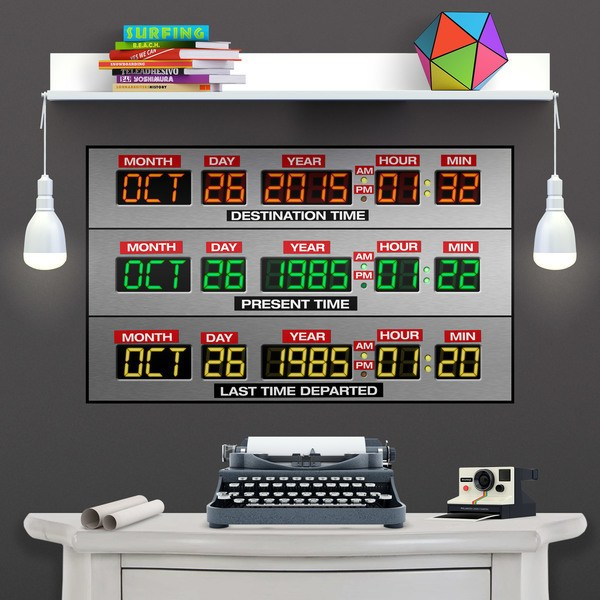 Wandtattoos: Klebstoff Poster DeLorean Time Panel