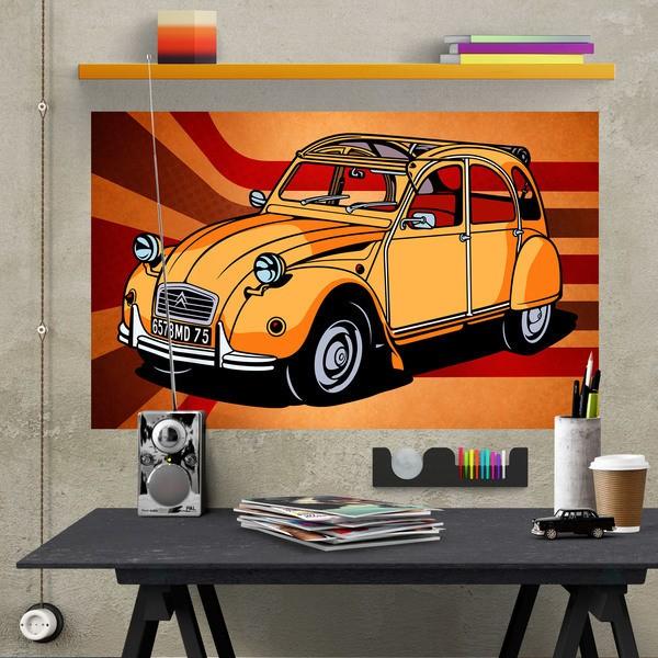 Wandtattoos: Klebstoff Poster Citroën 2CV