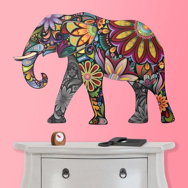 Wandtattoos: Indischen Elefanten