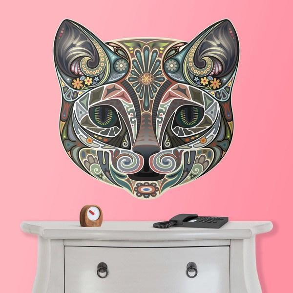 Wandtattoos: Kopfes eines Hindu Katze