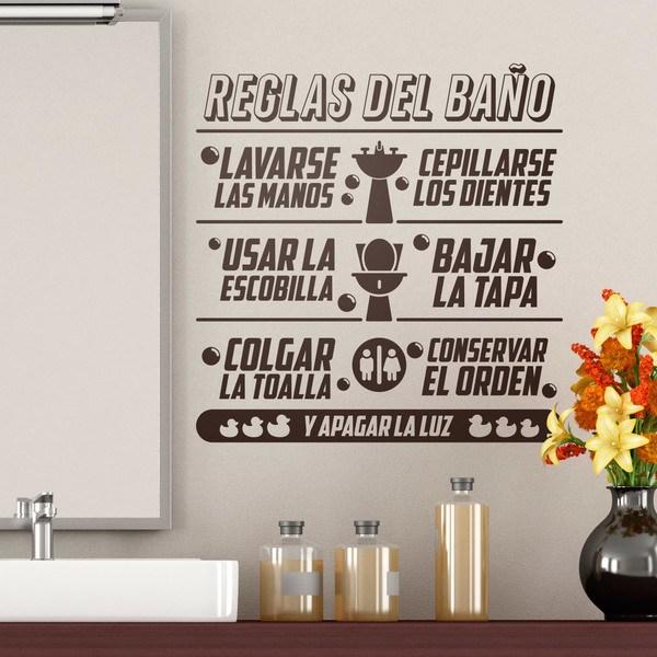 Wandtattoos: Badezimmer Regeln in Spanisch