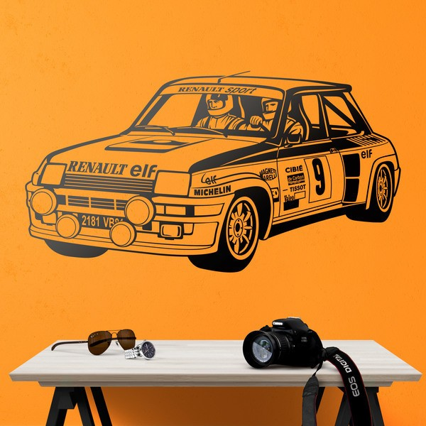 Wandtattoos: Renault 5 Turbo Rallye