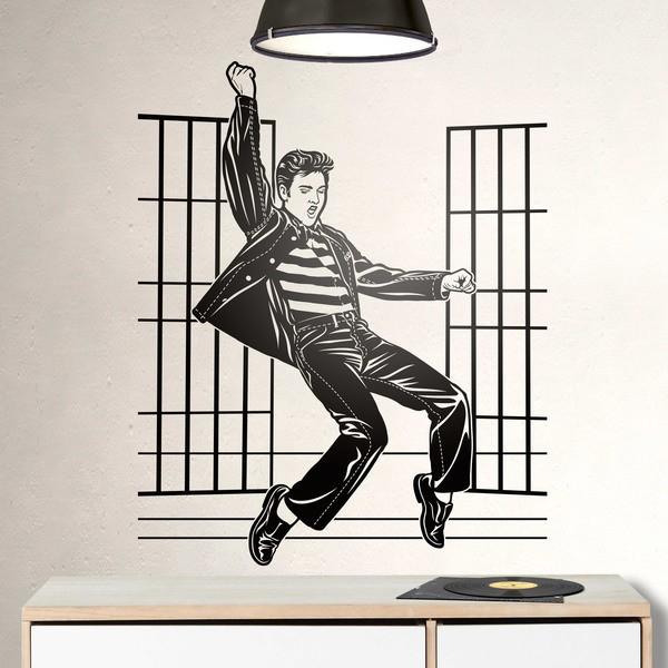 Wandtattoos: Elvis Presley Jailhouse Rock
