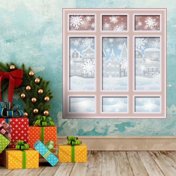 Wandtattoos: Fenster Weihnachten