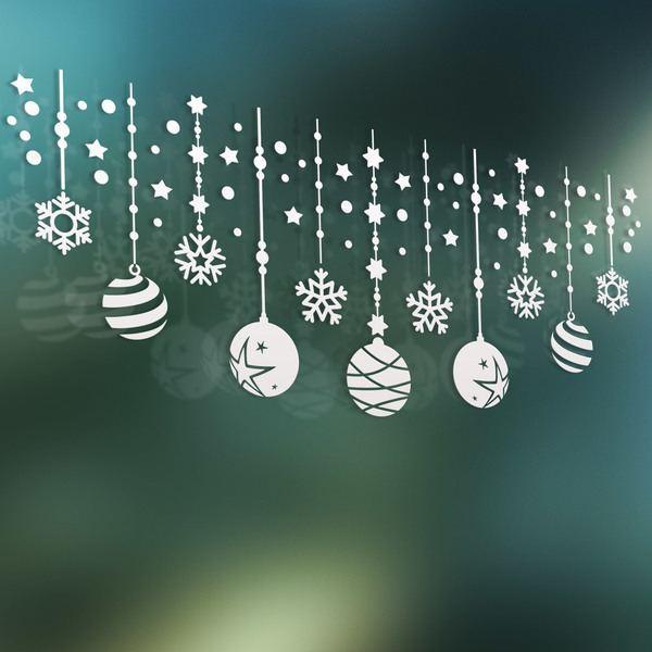 Wandtattoos: Weihnachten Zusammensetzung der Kugeln und Sterne