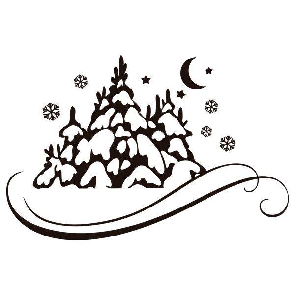 wandtattoos snowy wald mond und sterne. Black Bedroom Furniture Sets. Home Design Ideas