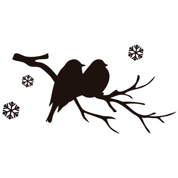 Wandtattoos v gel auf dem zweig und schnee for Braune klebefolie