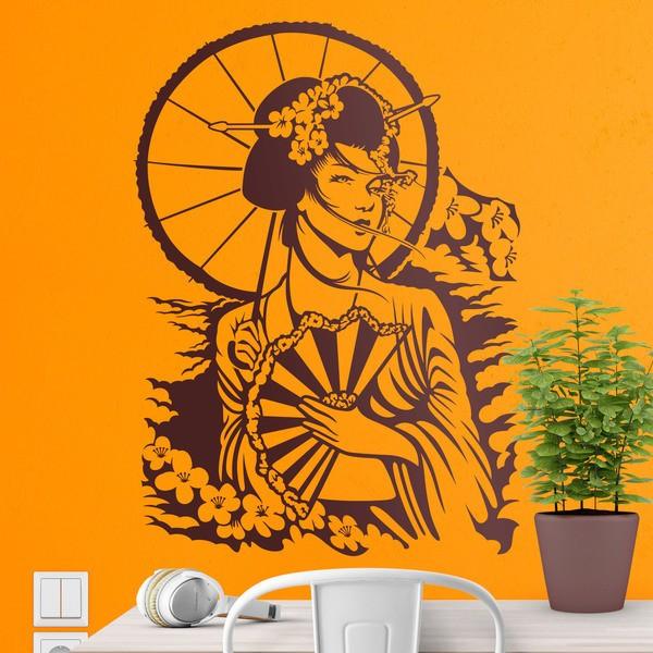 Wandtattoos: Japanische Geisha