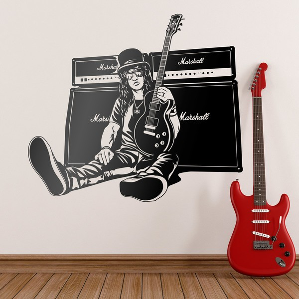 Wandtattoos: Slash, Gitarre und Lautsprecher