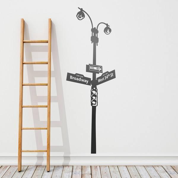 Wandtattoos: Lamppost Zeichen und Ampeln