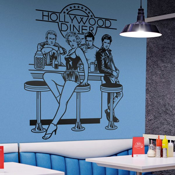 Wandtattoos: Hollywood Diner