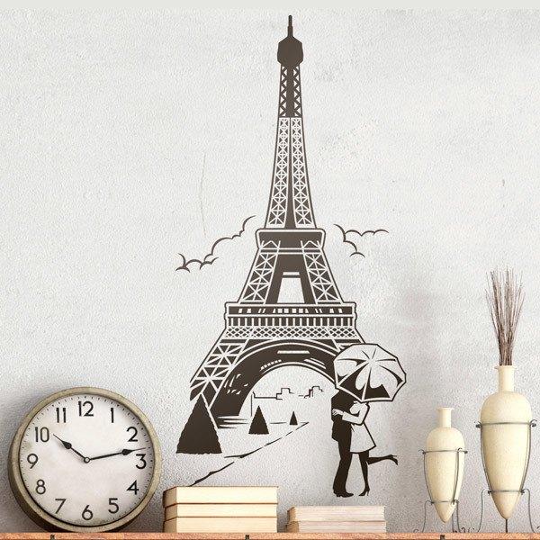 Wandtattoos: Liebe unter dem Eiffelturm